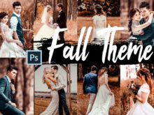 5 Fall Photoshop Actions, ACR, and LUTs Presets