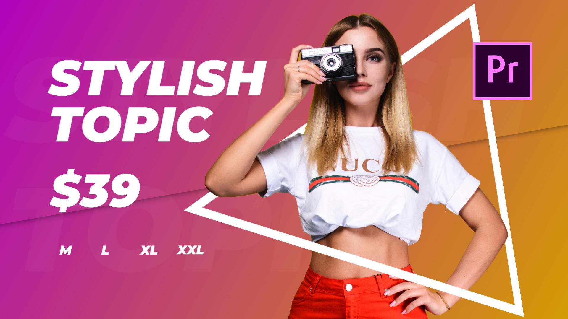 Tilda - Store Promo Premiere Pro Template
