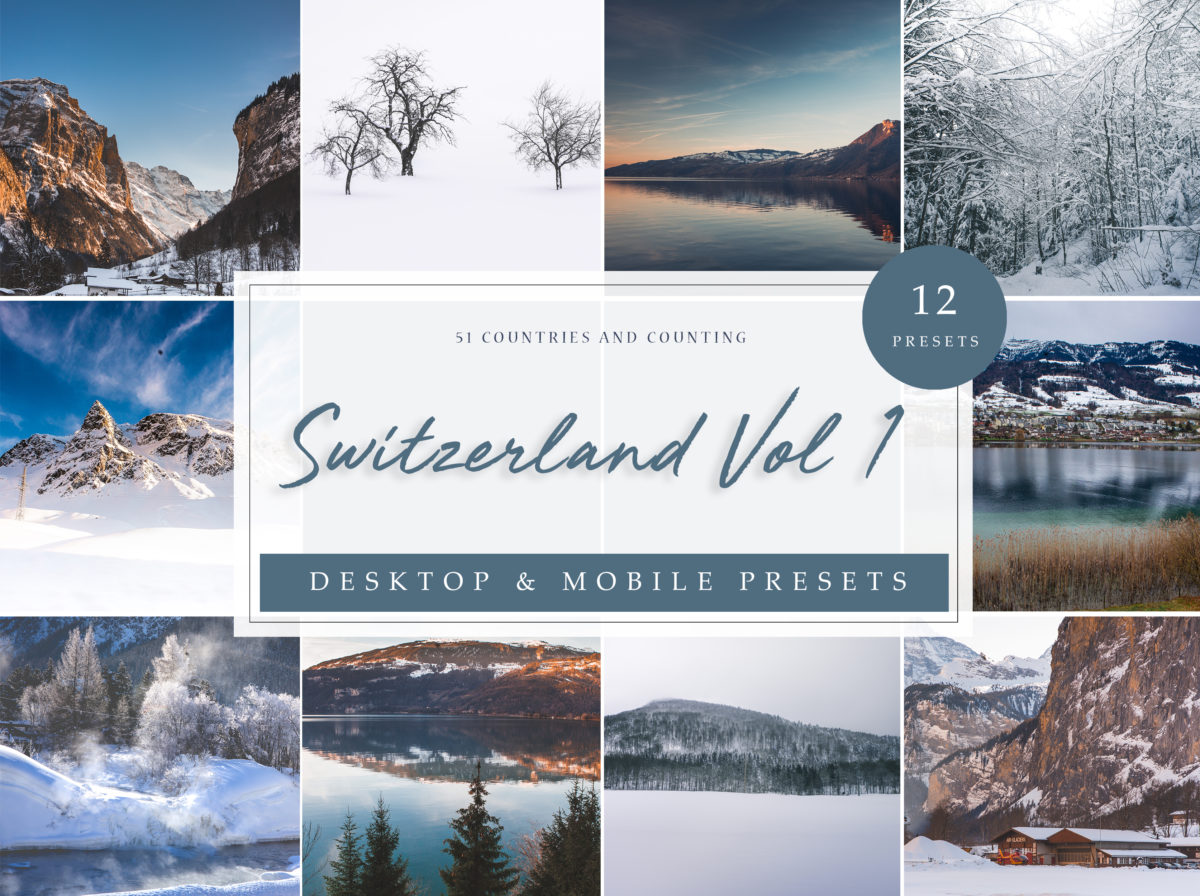 Travel Mountain Lightroom Presets | Switzerland Vol. 1