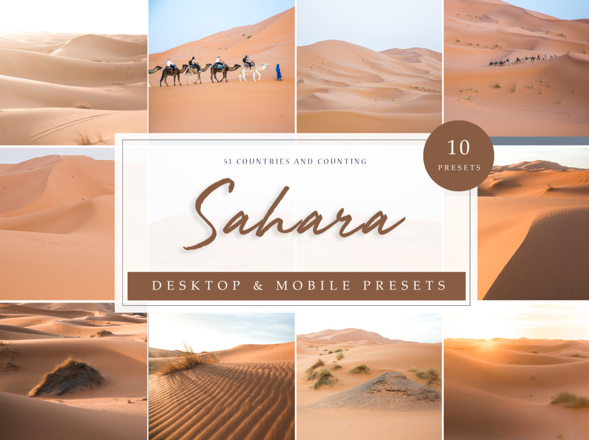 Sahara Desert Landscapes Lightroom Presets