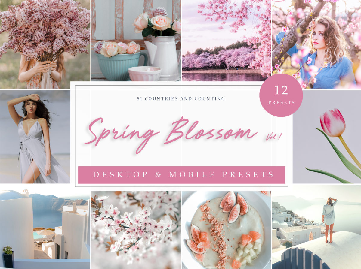 Spring Blossom Lifestyle & Travel Lightroom Presets