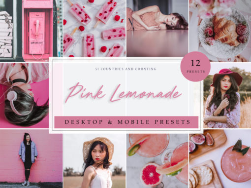 Pink Lemonade Lifestyle Lightroom Presets