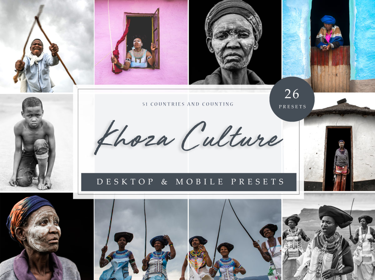 Khoza Inspired Portrait and Travel Lightroom Presets