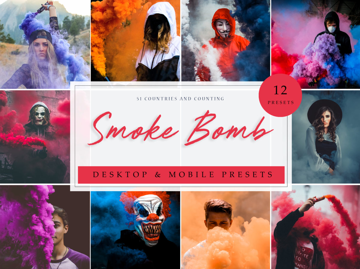 Smoke Bomb Fashion Desktop & Mobile Presets