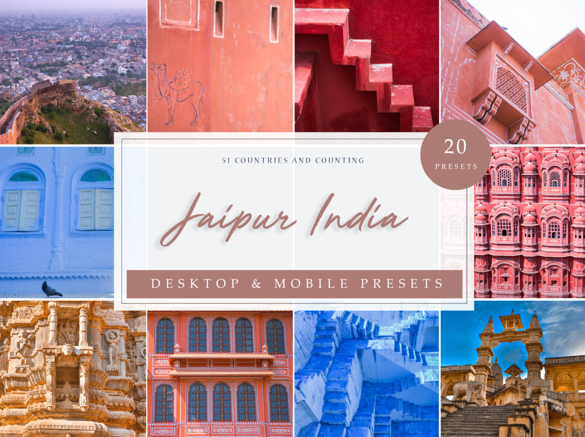 Jaipur, India Travel Lightroom Presets