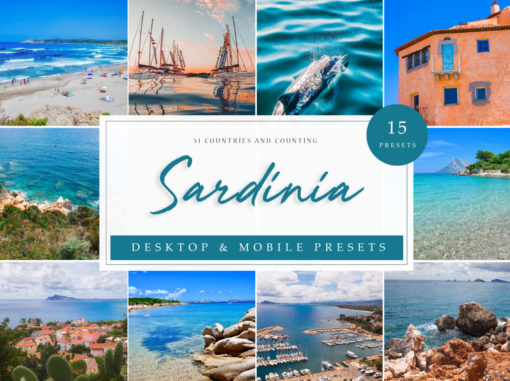 Sardinia Seascapes Travel Lightroom Presets
