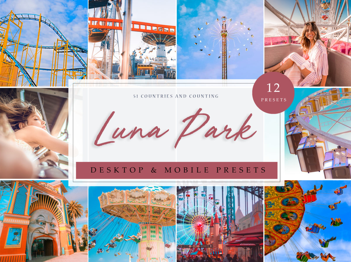 Luna Park Carnival and Funfair Themed Lightroom Presets