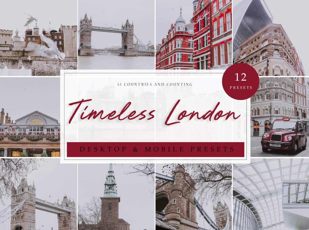 Timeless London Cityscape and Architecture Lightroom Presets