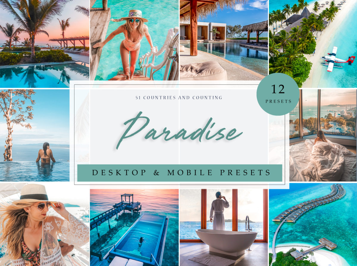 Paradise Travel Summer Lightroom Presets