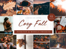 Cozy Fall and Autumn Lightroom Presets Pack