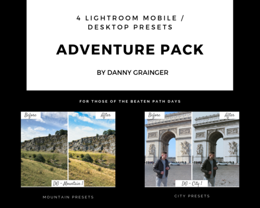 Danny Grainger ADVENTURE PACK – Lightroom CC Desktop / Mobile Presets