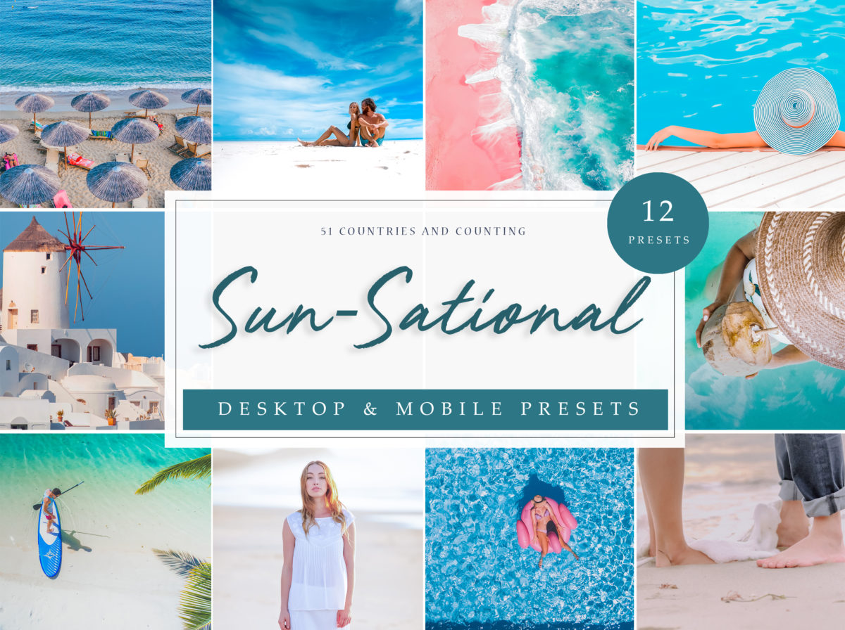 Sun-Sational Travel Lightroom Presets