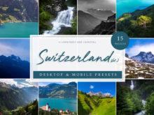 Travel Mountain Lightroom Presets   Switzerland Vol. 2