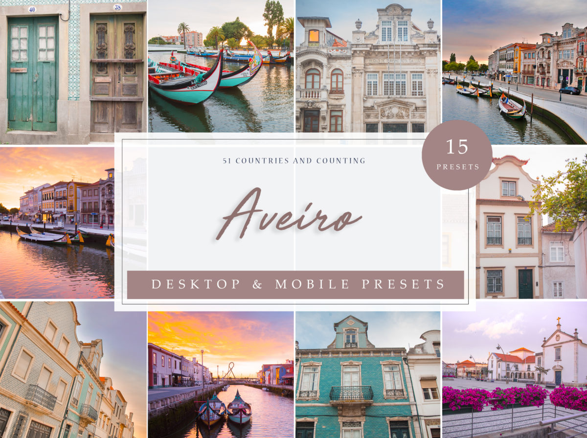 Aveiro Architecture + Travel Lightroom Presets