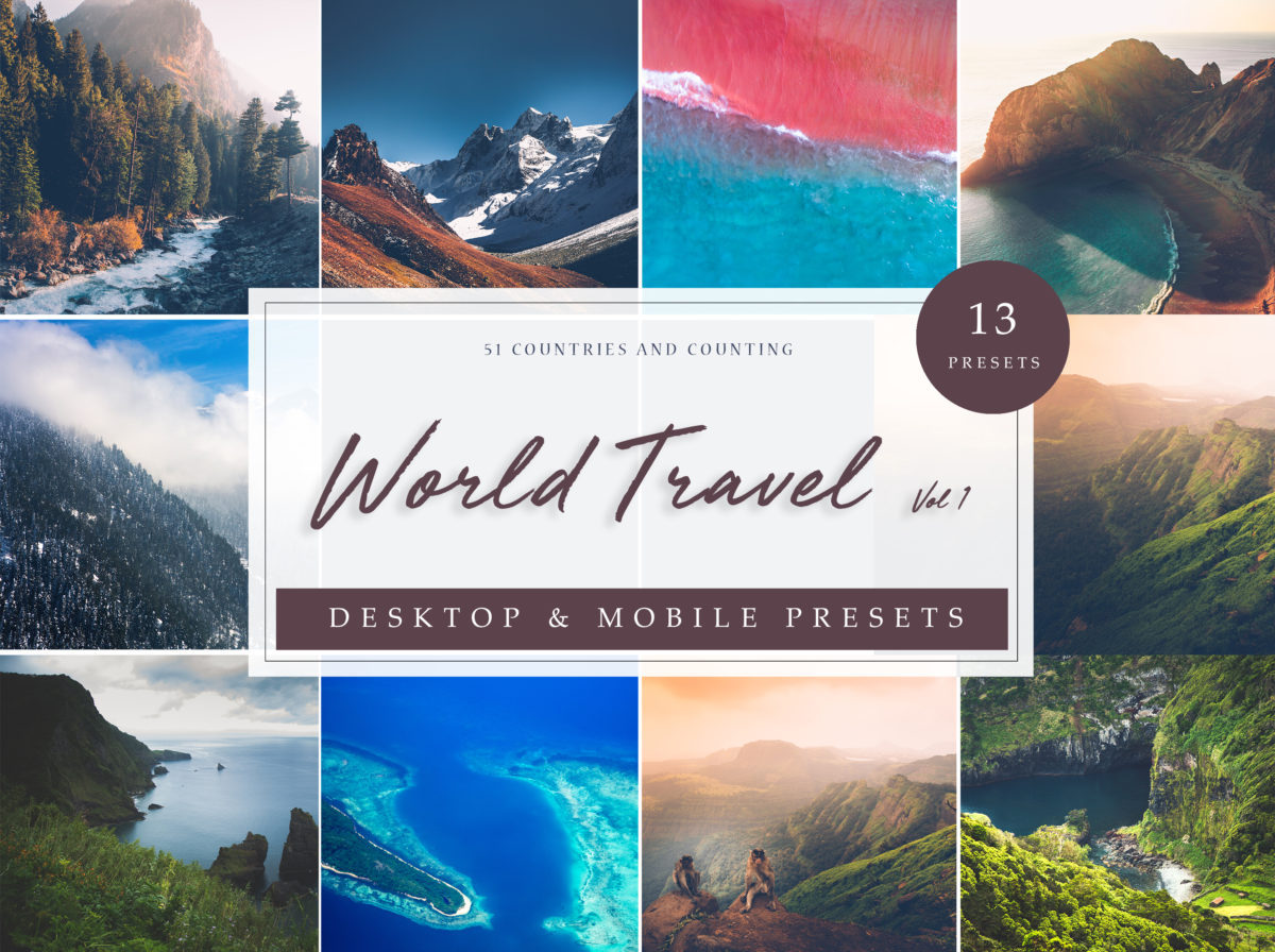 World Travel Lightroom Presets Collection Vol. 1