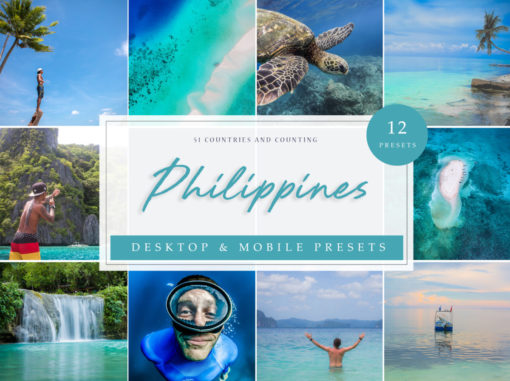 Philippines Vol. 1 Travel Blogger Lightroom Presets