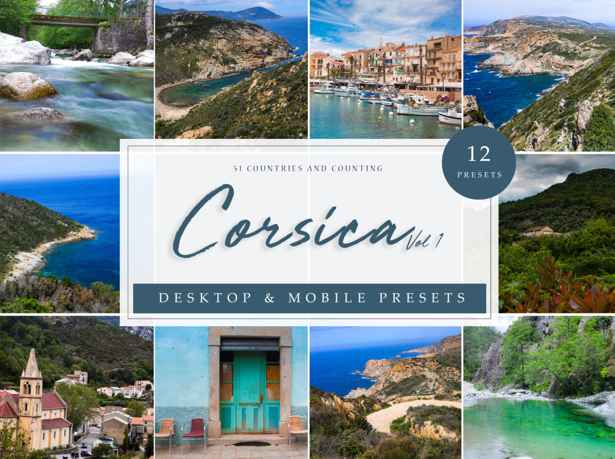 Corsica Vol. 1 Landscape and Seascape Lightroom Presets