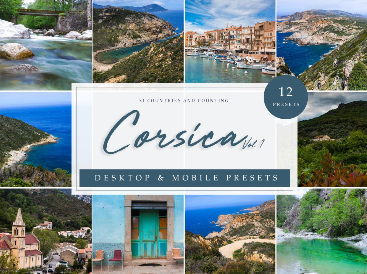Corsica Vol. 1 Landscape and Seascape Lightroom Presets