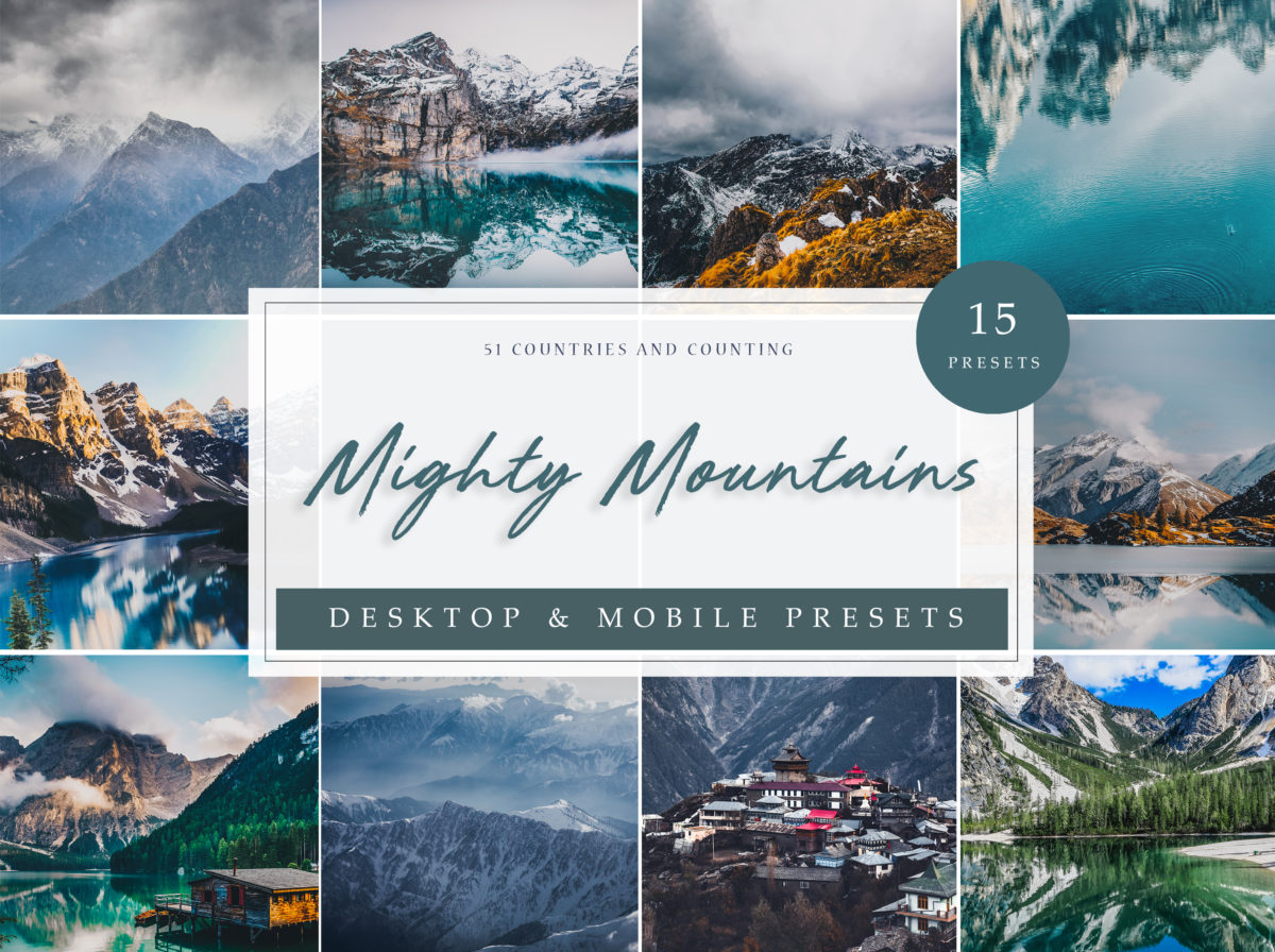 Mighty Mountains Vol. 1 Landscape and Mountains Presets