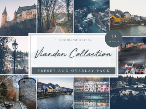 Vianden Collection Travel Lightroom Presets + Overlays Pack