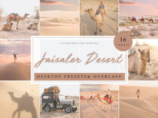 Jaisaler Desert Lightroom Presets & Photoshop Overlays Pack