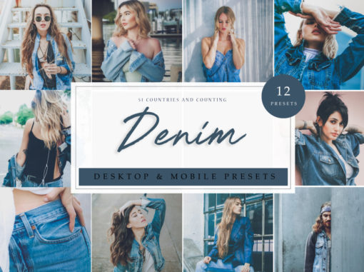 Fashion Lightroom Presets Denim Vol. 1