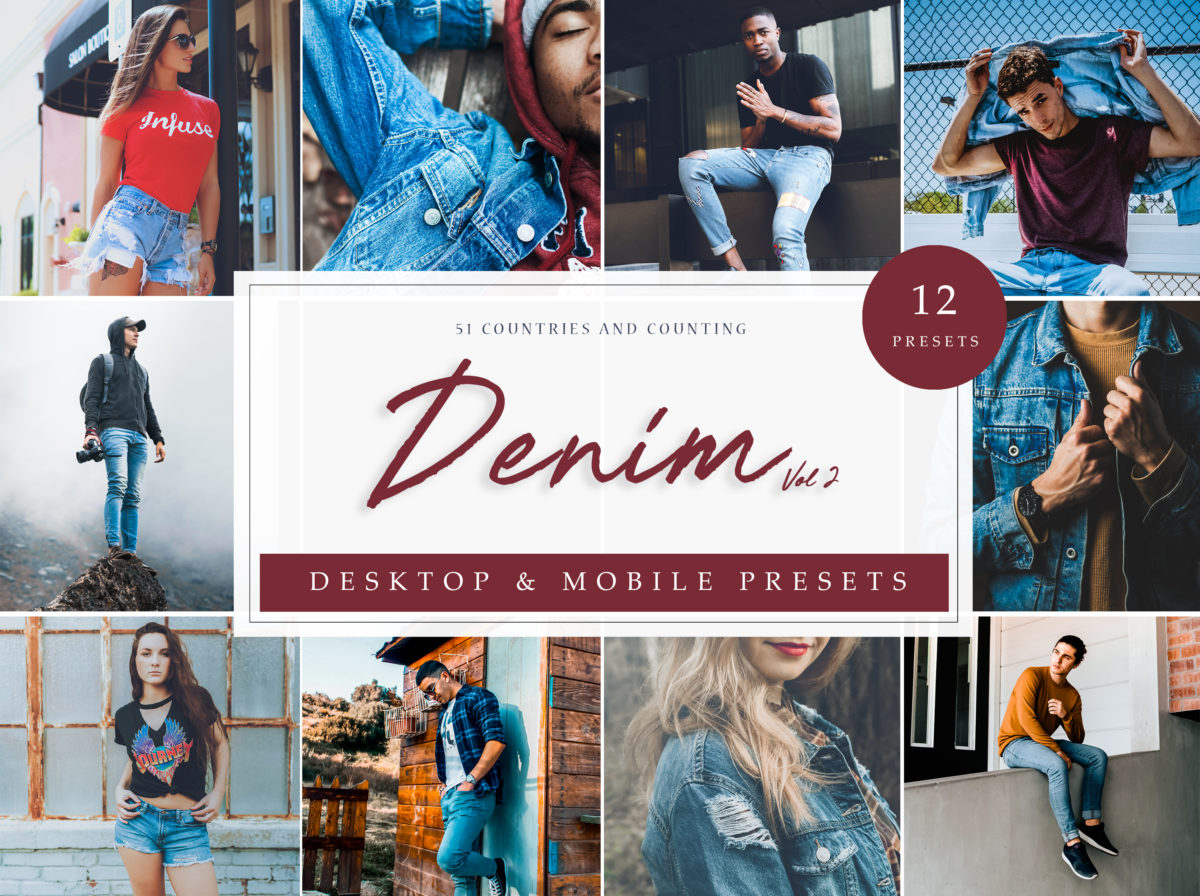 Fashion Lightroom Presets Denim Vol. 2