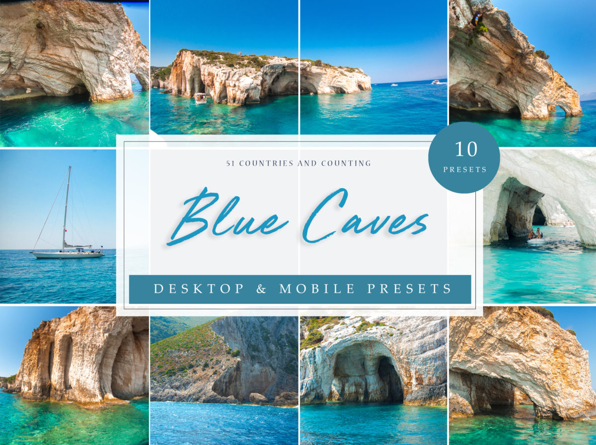 Zante Blue Caves Oceanic and Seascape Lightroom Presets