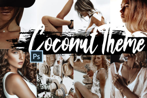 5 Coconut Photoshop Actions and LUTs