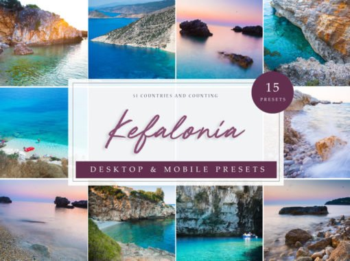 Kefalonia, Greece Inspired Travel Lightroom Presets