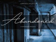 Abandoned & Paranormal Lightroom Presets Bundle
