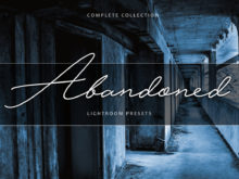 Abandoned & Paranormal Lightroom Presets Bundle
