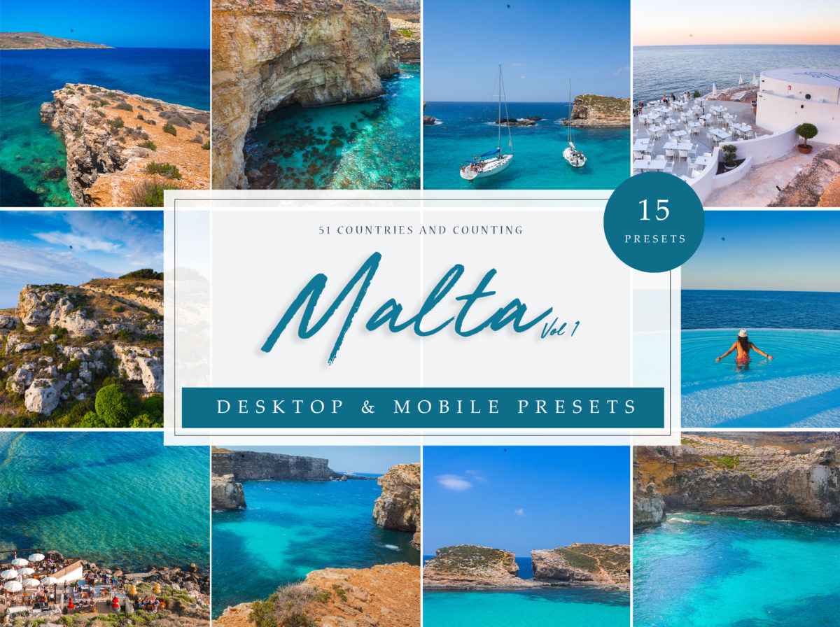 Malta Travel Lightroom Presets Vol. 1