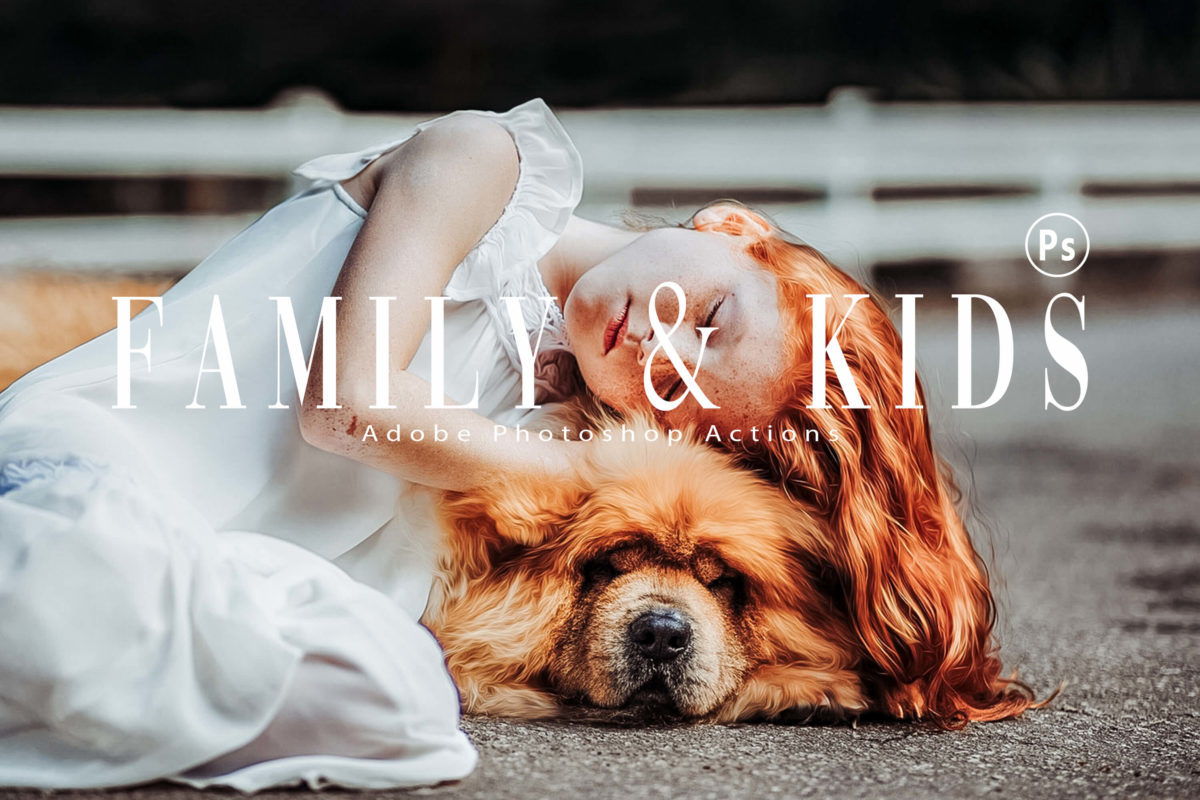 10 Family & Kids Photoshop Actions and LUTs