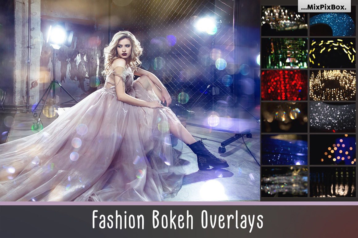 Fashion Bokeh Photo Overlays