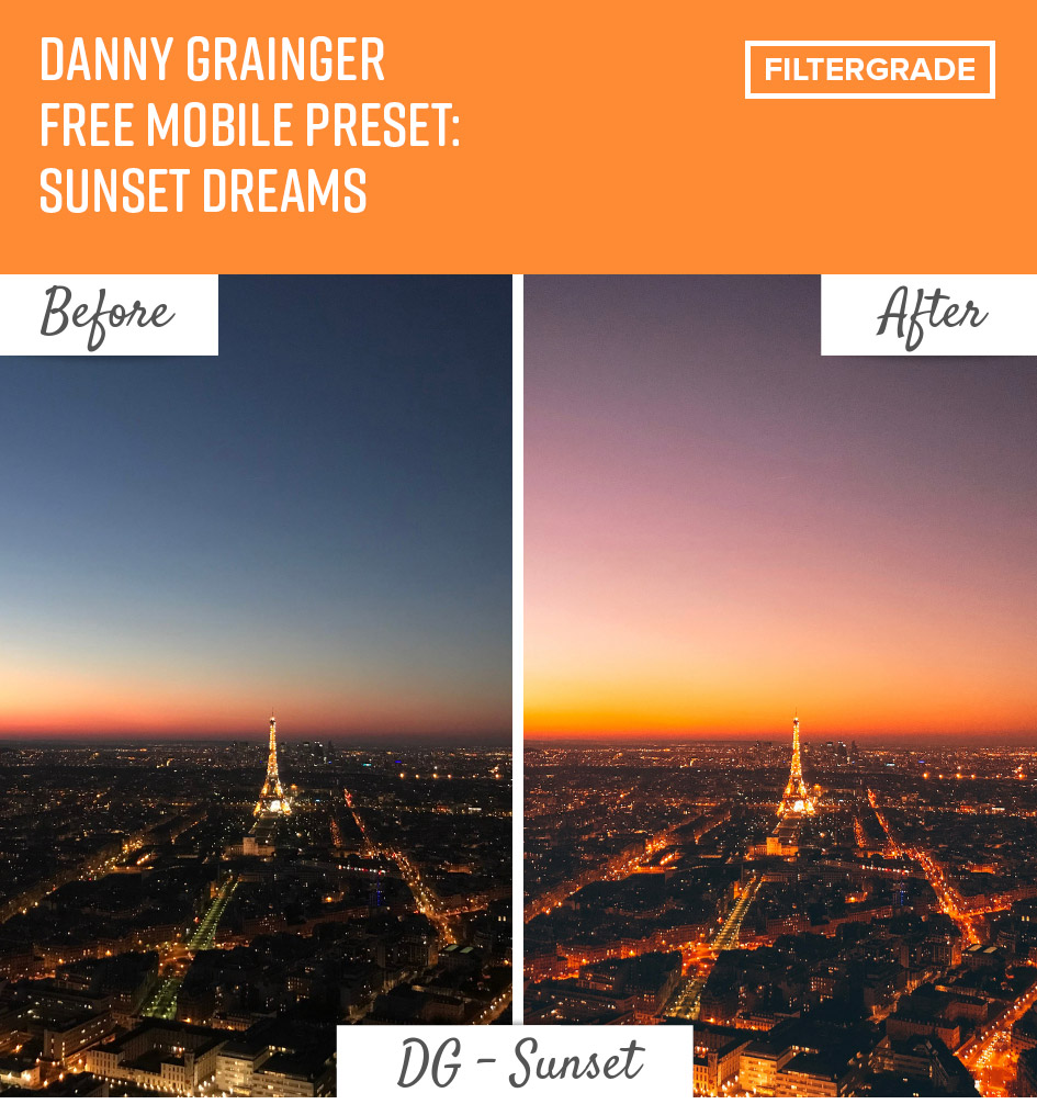 Danny Grainger Free Mobile Preset: Sunset Dreams