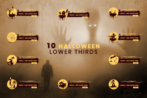10 Halloween Lower Thirds Pack