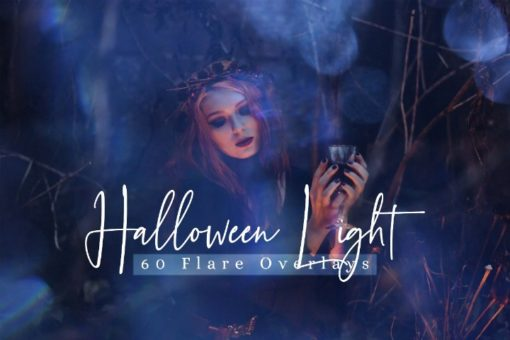 60 Halloween Lights Effect Photo Overlays