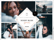 5 x Moody Blues Mobile Lightroom Presets | DNG