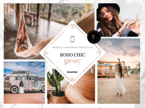 5x Boho Chic Mobile Lightroom Presets | DNG