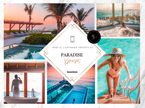 5 x Paradise Mobile Lightroom Presets | DNG