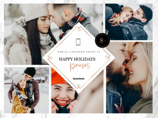 8 x Happy Holidays Mobile Lightroom Presets
