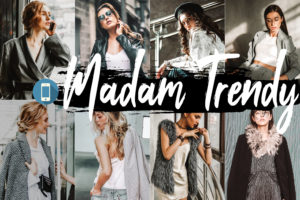 5 Madam Trendy Mobile Lightroom Presets