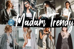 5 Madam Trendy Mobile Lightroom Presets