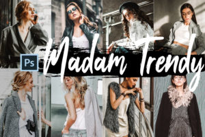 5x Madam Trendy Photoshop Actions and LUTs