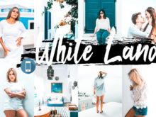 5 White Land Mobile Lightroom Presets