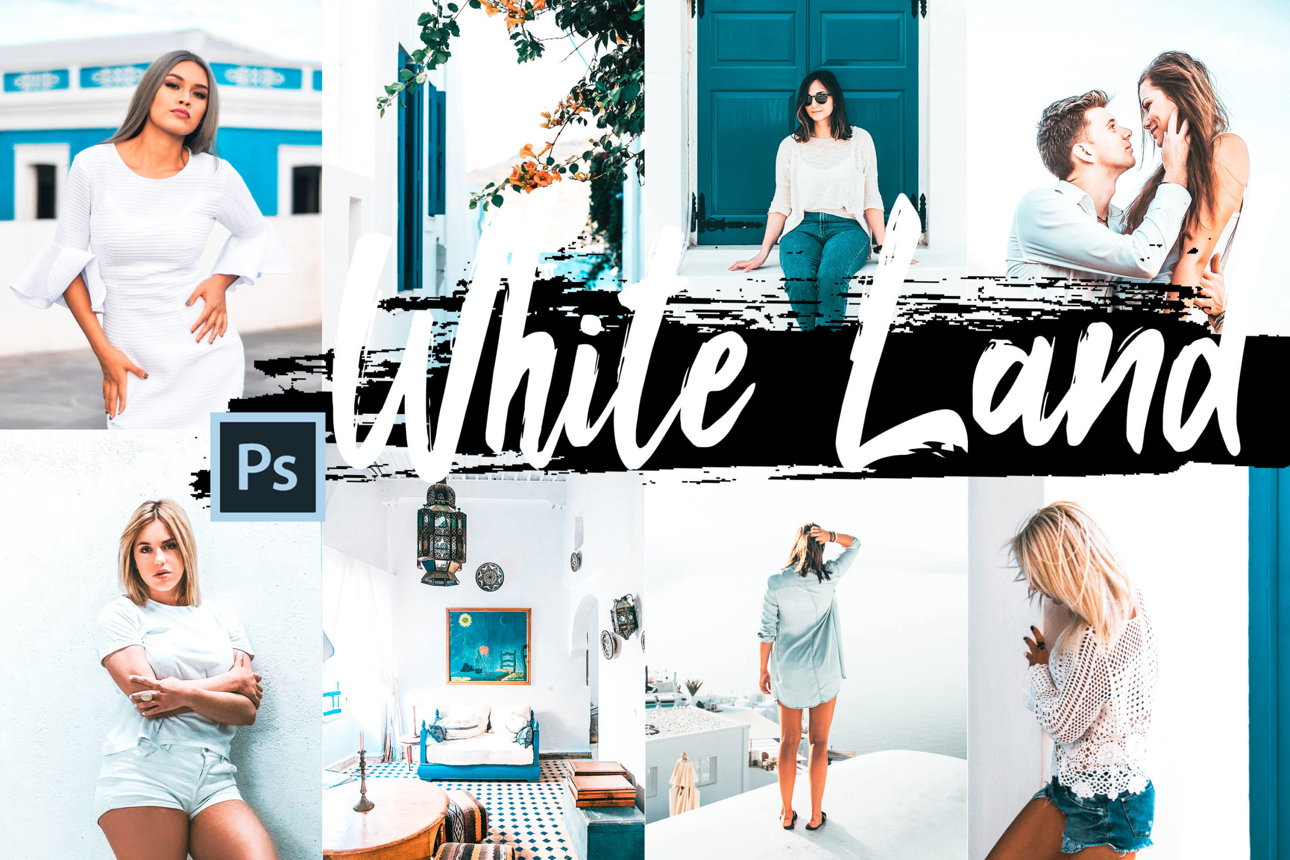 5 White Land PS Actions and LUTs