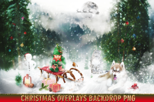 150 Christmas Overlays Photoshop Clipart Bundle