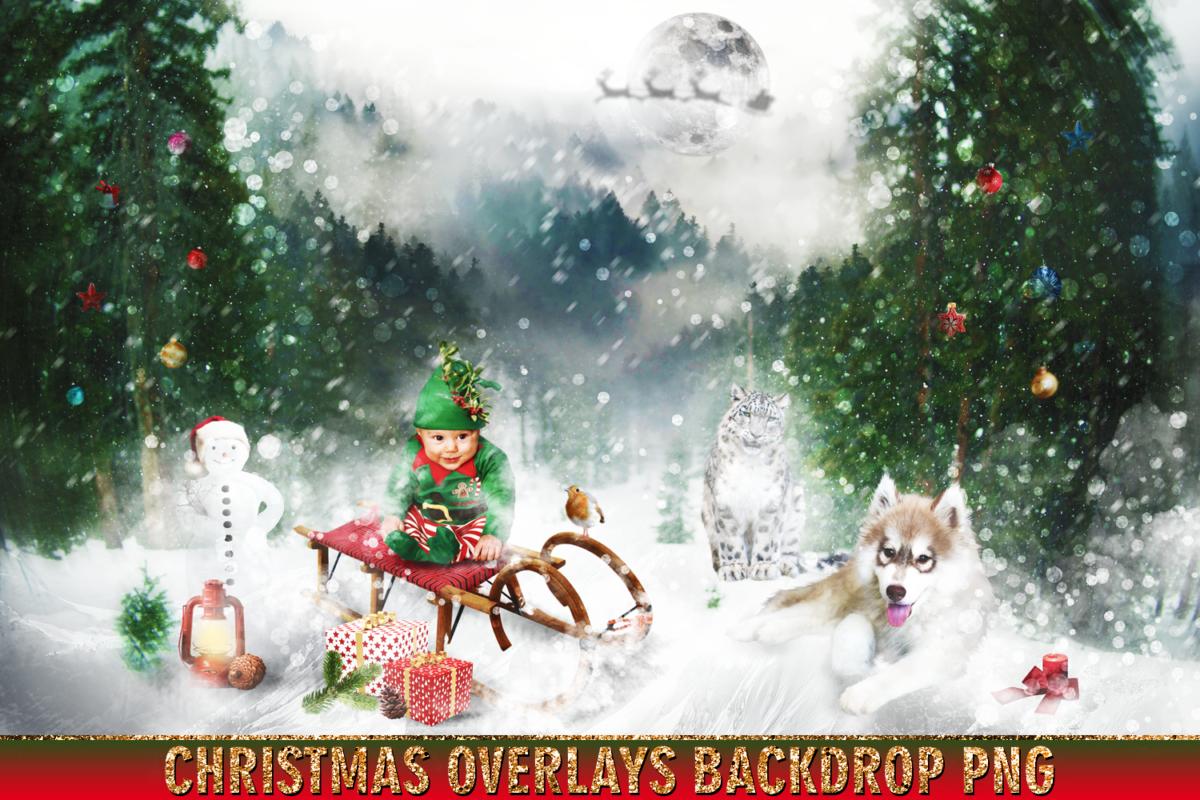 150 Christmas Overlays Photoshop Clipart Bundle