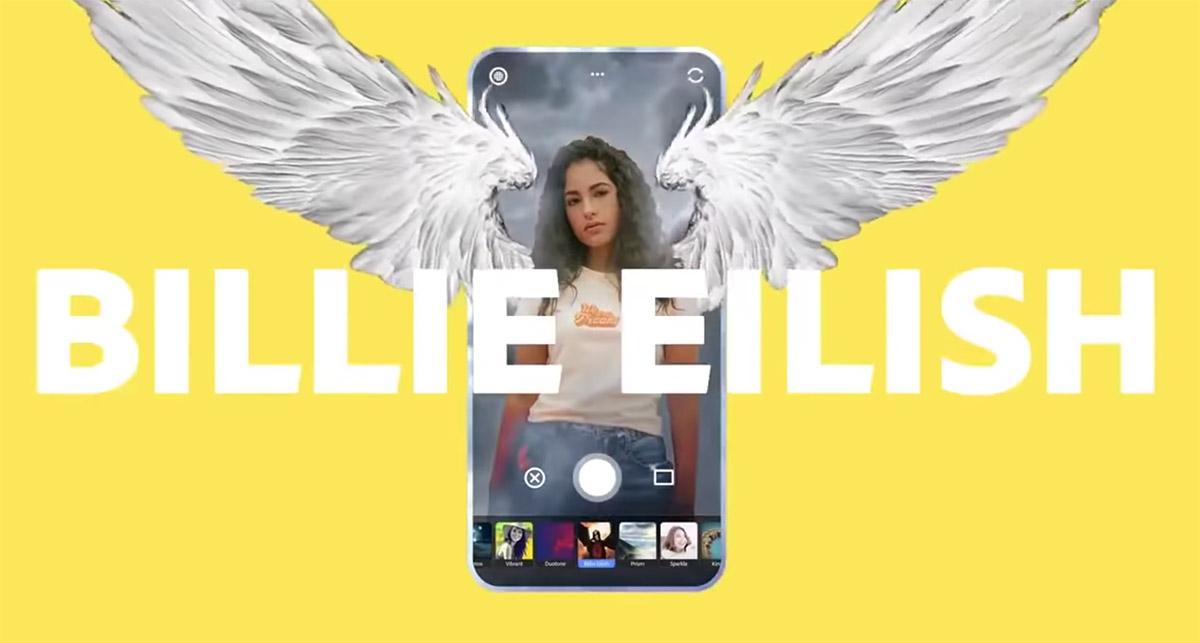 billie eilish photoshop camera filter